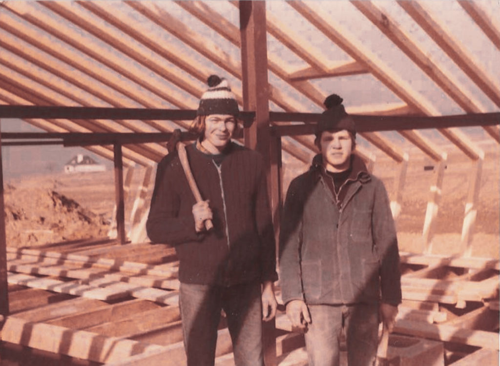 Günter Paulus (links) in der Lehre